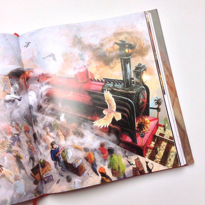 Harry Potter illustrated - the train