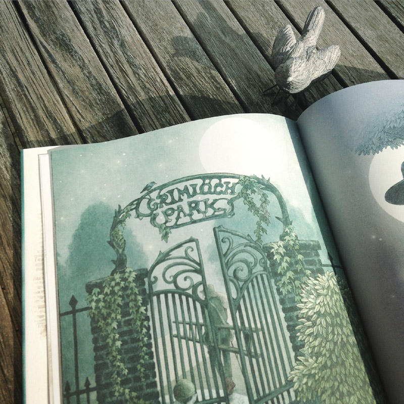 The Night Gardener - The Fan Brothers - intrarea in parc