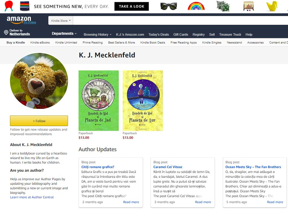 KJ Mecklenfeld books on Amazon